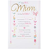 Hallmark Mum Birthday Card 'Thank You' - Large