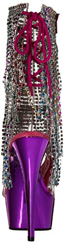 Pleaser delight-1017rsf Clr-Multi/Fuchsia Chrome