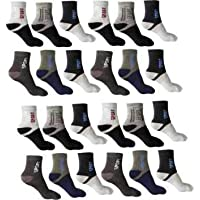 SUZO Men's Cotton Cushion Ankle Socks - Pack of 12 (Multicolour, Free Size)