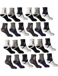 SUZO Men's Cotton Cushion Ankle Socks (Multicolour, Free Size) Pack of 12