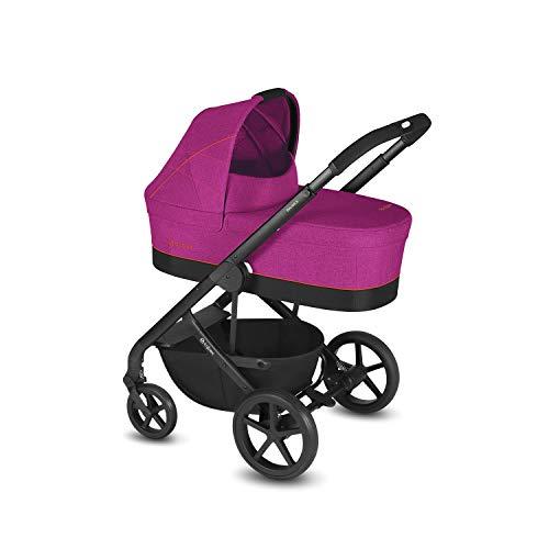 CYBEX Gold Kombikinderwagen Balios S mit Kinderwagenaufsatz Cot S, Inkl. Adapter für Babyschale, Ab Geburt bis 17 kg (ca. 4 Jahre), Passion Pink (Alle In Einem Globalen Adapter)