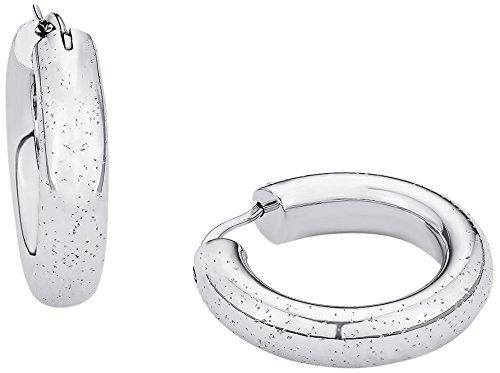 s.Oliver Damen-Creolen X-Mas Special 24 mm 925 Silber rhodiniert - 560610