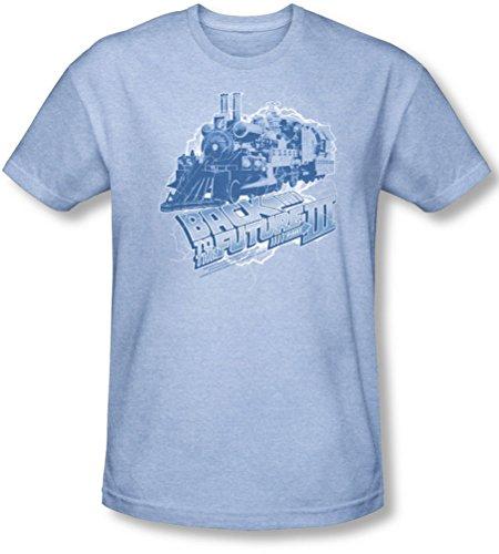 Back To The Future III - Zurück in die Zukunft III - Herren Zeit-Zug-T-Shirt in Hellblau, XX-Large, Light Blue