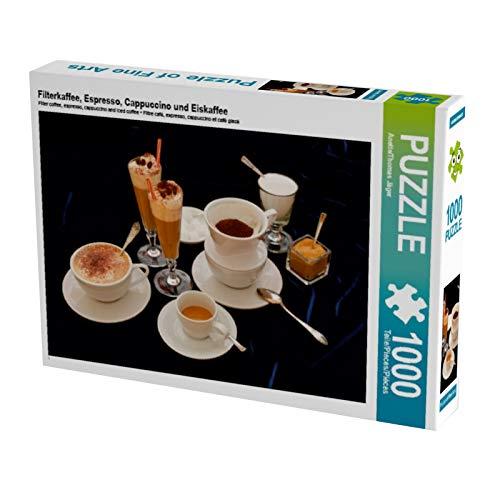 CALVENDO Puzzle Filterkaffee, Espresso, Cappuccino und Eiskaffee 1000 Teile Lege-Größe 64 x 48 cm Foto-Puzzle Bild von Anette/Thomas Jäger