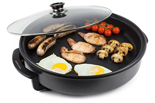 Andrew James Multi Cooker With Glass Lid In Black 1500W