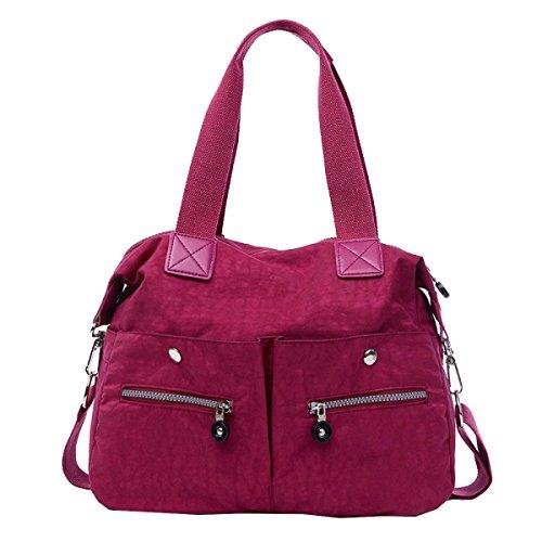 Yy.f Nuovo Di Alta Capacità Portatile Panno Di Nylon Impermeabile Spalla Mobile Messenger Zaino Pratico Interna Multicolore Purple