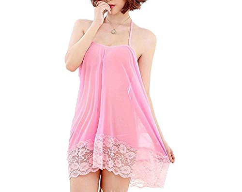 Temfen - Pink Special Nights Babydoll Dress Gorgeous Looking Hot & Sexy Babydoll Nighty Honeymoon Special First Night | Valentine Dress Sexy Lingerie Costume Girls/Women | Erotic Dress