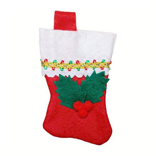 pygex (TM) 28pcs Natale festa di nozze regalo di compleanno piatti da tavola di Natale Decorazioni Tavola Set calze di Natale posate borsa 3 1