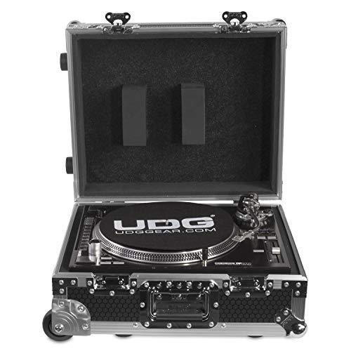 UDG flightcase multi formato giradischi + (trolley e ruote)-argento
