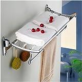WEIYU Towel Bar High Quality Contemporary Stainless Steel Zinc Alloy 1 Pc - Hotel Bath Double