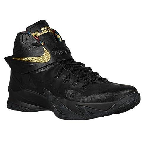 Nike Men's Soldier VIII Premium Black/Gold Basketball Shoes 688579 070 size 11.5
