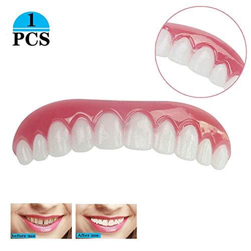Kosmetische Zähne Sofortiges Lächeln Zähne Whitening Prothese Perfekte Smile Veneers Kosmetikfurnier,Quick Dental Tooth Provisorischer Zahnersatz Zahnprothese Veneer für Oberkiefer -