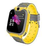 Reloj Inteligente para Juegos Infantiles con MP3 Player - [1GB Micro SD Incluido] Llamada de Pantalla táctil de 2 vías Juego de Alarma cámara Reloj Regalo de Juguete de cumpleaños (Amarillo)