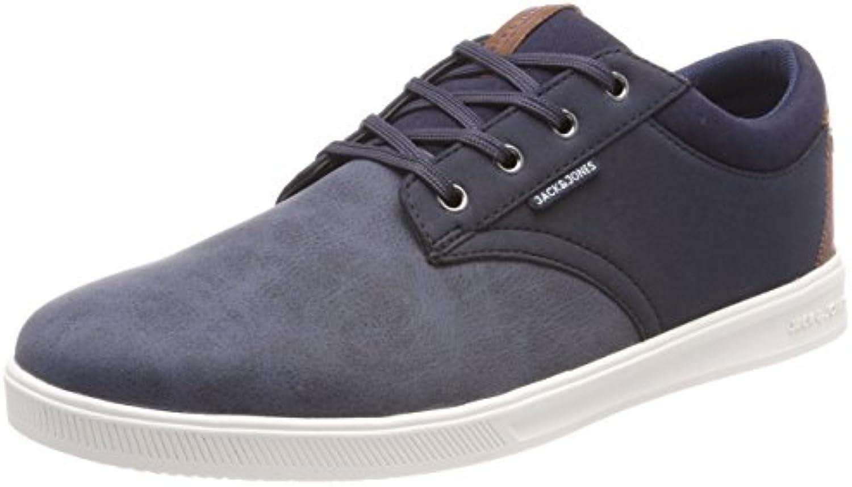 JACK  JONES Herren Jfwgaston PU Combo Navy Blazer Sneaker