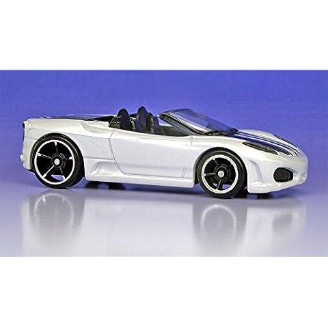 2009 Hot Wheels Dream Garage White Ferrari F430 Spider w/ Black OH5SPs #153/190 (7 of 10) 1:64 Scale