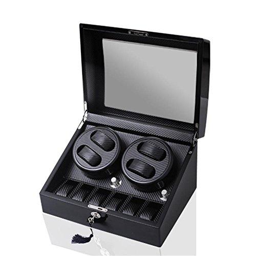 Produktbild SHISHANG 4 + 6 schwarze Kohlefaser Rocker auf der Kette automatische Uhrenbox Motor Rotor Akira Akira