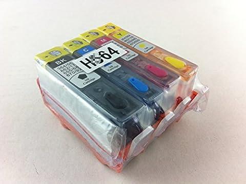 hemei @ 364complet rechargeable Cartouche d'encre pour HP 364, à l'aide d'encre pour HP Photosmart (Colori A Getto D'inchiostro Di Ricambio)
