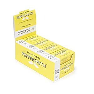 Peppersmith 100% Xylitol Mints, Sicilian Lemon and Fine English Peppermint, 25 Mints15 g (Pack of 12, Total 300 Mints)