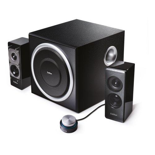 EDIFIER S330D 2.1 Lautsprechersystem/ pc-lautsprecher (72 Watt) mit Kabelfernbedienung, schwarz