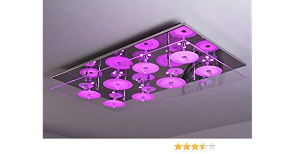 LED ceiling light with colour change and remote control