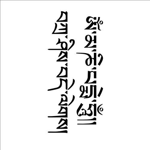 Tibetischen Tanz Kostüm - Ruofengpuzi Tattoo Aufkleberoriginal Sechs-Wörter-Mantra Im Chinesischen Stil Anpassbare Text Kalligraphie Wasserdicht Männer Und Frauen Tibetische Herrschsüchtige Tätowierung Aufkleber