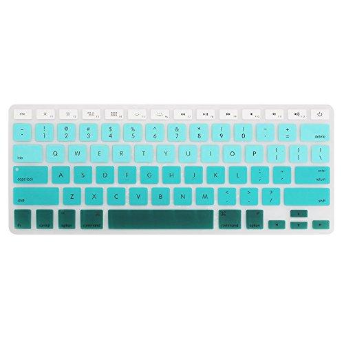 cht Tastatur Bezug Waschbar Schutz Skin für MacBook Pro 33cm 38,1cm 43,2cm (mit Oder w/Out Retina Display) iMac Apple Wireless Keyboard und MacBook Air 33cm () Ombre Turquoise ()
