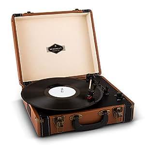 auna jerry lee platine vinyle portable design valise. Black Bedroom Furniture Sets. Home Design Ideas