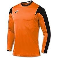 Joma Estadio Camiseta de Juego Manga Larga, Hombre, Naranja/Negro, 4XS-