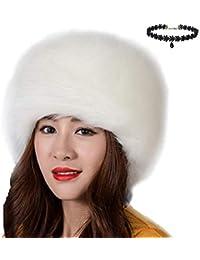 Chapka Russe Femme Elegant Mode Casquette Fausse Fourrure pour Hiver Chaud  Cache-Oreilles Ski Chapeau 7a864f56dcf