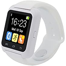 Reloj Bluetooth,Xinan Reloj Inteligente Podómetro para iPhone LG Samsung TELÉFONO U80 (Blanco)