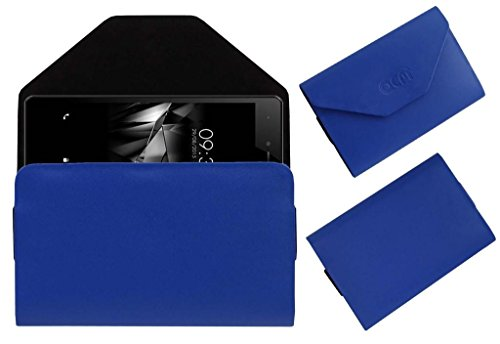 Acm Premium Pouch Case For Micromax Canvas 5 E481 Flip Flap Cover Holder Blue  available at amazon for Rs.179