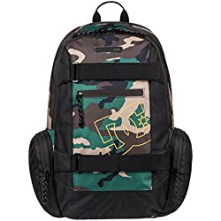 DC Shoes The Breed Mochila Mediana, Hombre, Rojo (Camo), 26 l