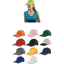 Subito disponibile STOCK 10 PEZZI Cappello cappellino con visiera rigida 6  pannelli basebal ef3d8ef9f15c