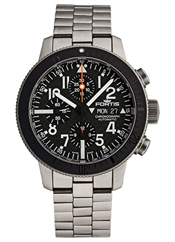 Reloj de Pulsera Fortis B-42, cronógrafo de Titanio y Carbono, Fecha, día de la Semana, analógico, automático, 638.27.51 m