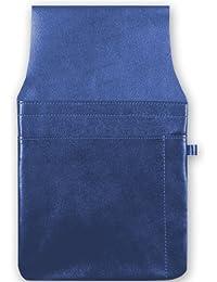 Gastro Kellnertaschenhalfter mit Kettenschlaufe, 103590 007, Damen und Herren Kellnerbörsenhalfter, Leder, blau