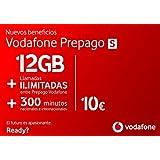 Vodafone Prepago S 12 GB + 300 Minutos (nacionales e internacionales) Roaming Europa EEUU