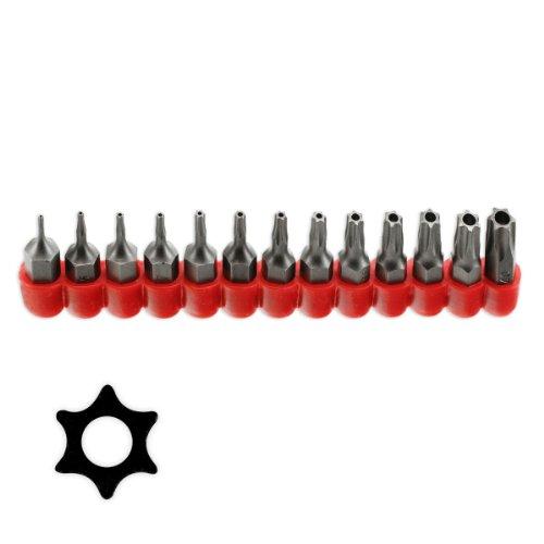 Pro-Grade 13pc Tamper Proof TORX Star Bit Set T-4 to T-40 - Taiwan by Pro Tools -