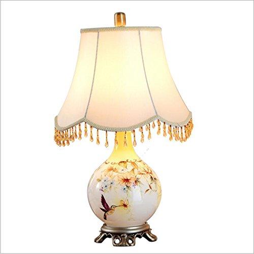 JXJJD Wohnzimmer Dekoration Tischlampe Schlafzimmer Nachttischlampe Nordic einfach American Princess Studie Tischlampe