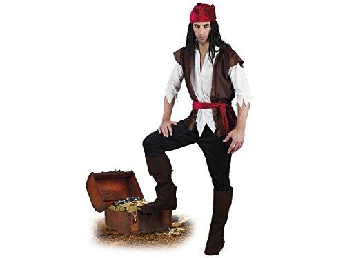 Alsino Piratenkostüm Komplett Pirat Verkleidung Karneval Piraten Kostüm Fasching, wählen:83533 Gr. 54-56