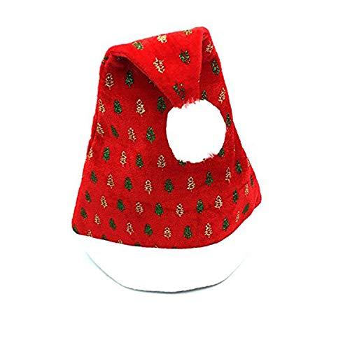 LoveLeiter Weihnachtsfest Sankt Hut Kappe StüCk Weihnachten Hut Dekoration Artikel Hund Katze HalsbäNder WeihnachtshüTe Halsband Krawatte KostüM Niedlich Haustier Weihnachtskostü(C,Freie Größe) (Halloween-kostüme Hund Minnie Maus)