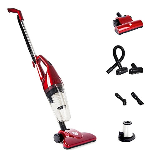 duronic-red-vc7-rd-hepa-filter-bagless-upright-handheld-stick-vac-vacuum-cleaner-with-turbo-brush-ho