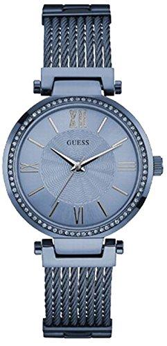 Guess W0638L3 – Reloj con correa de metal, para mujer, color azul