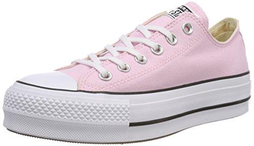 Converse CTAS Lift OX Cherry Blossom/White/Black, Zapatillas para Mujer, Rosa 681, 39 EU
