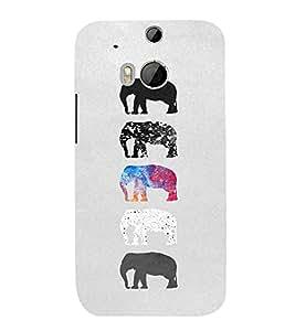 EPICCASE Elephant Design Mobile Back Case Cover For HTC One M8 (Designer Case)