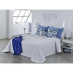 COTTON ART- Colcha PIQUE BLANCO Mod. BIDEA cama de 180 ( 270 x 260 cm). 80% ALGODÓN-20% POLIÉSTER