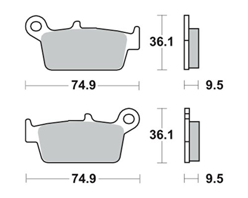 Garnitures de frein TRW MCB575SI pour Gas Gas EC 515 FSR 08-09 (arrière)