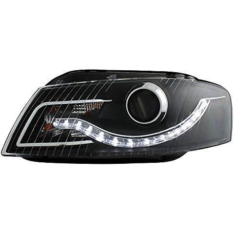 Dectane SWA11EGXB Dayline - Fanali per Audi A3 8P, anno di fabbricazione 03-08, look luci diurne, colore: Nero