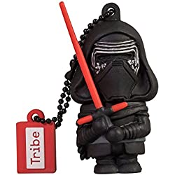 Tribe Disney Star Wars Kylo Ren Chiavetta USB da 16 GB Pendrive Memoria USB Flash Drive 2.0 Memory Stick, Idee Regalo Originali, Figurine 3D, Archiviazione Dati USB Gadget in PVC con Portachiavi - Nero