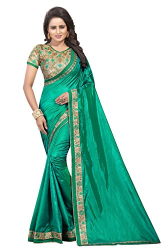 Shiroya Brothers Women's Pepar Silk Partywear New Collection Saree With embroidered Blouse...