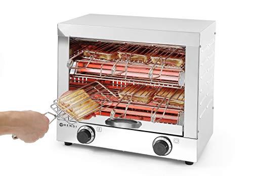 Hendi 262214 Quarzröhren Toaster mit 6 Zangen
